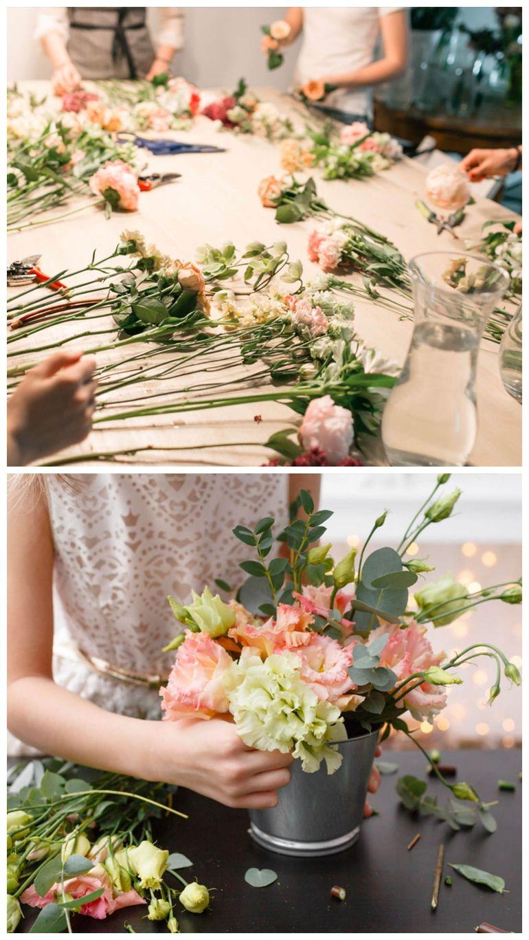 Мастер-класс по сборке цветочной композиции в ведерке на 14 февраля