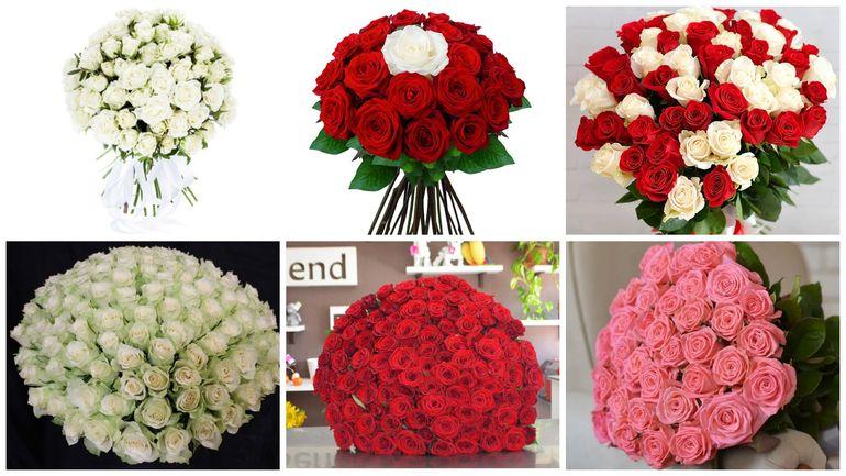 Букет роз на день Валентина - круглый