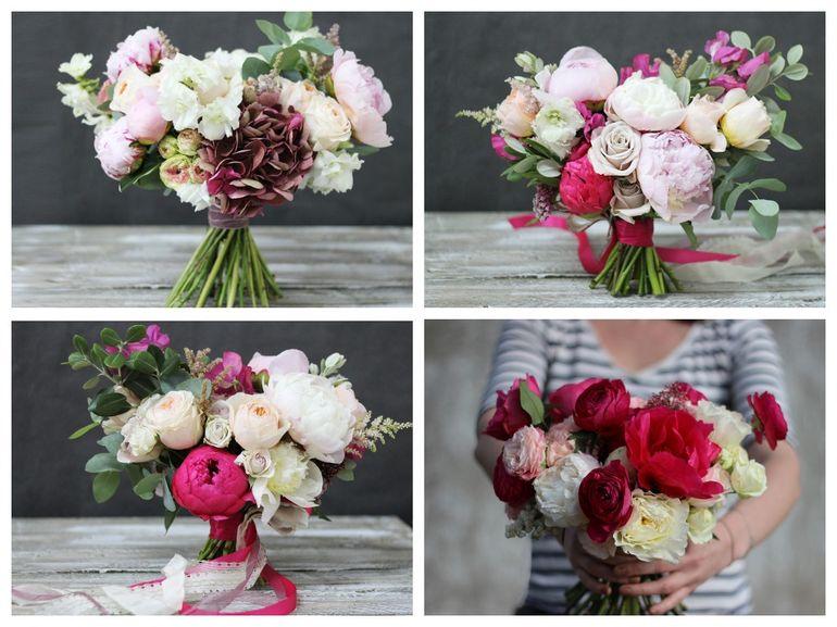 Букет роз на день Валентина - ассиметричный