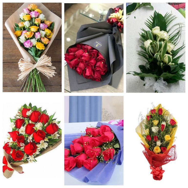 Букет роз на день Валентина - односторонний