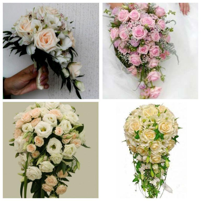 Букет роз на день Валентина - каскадный