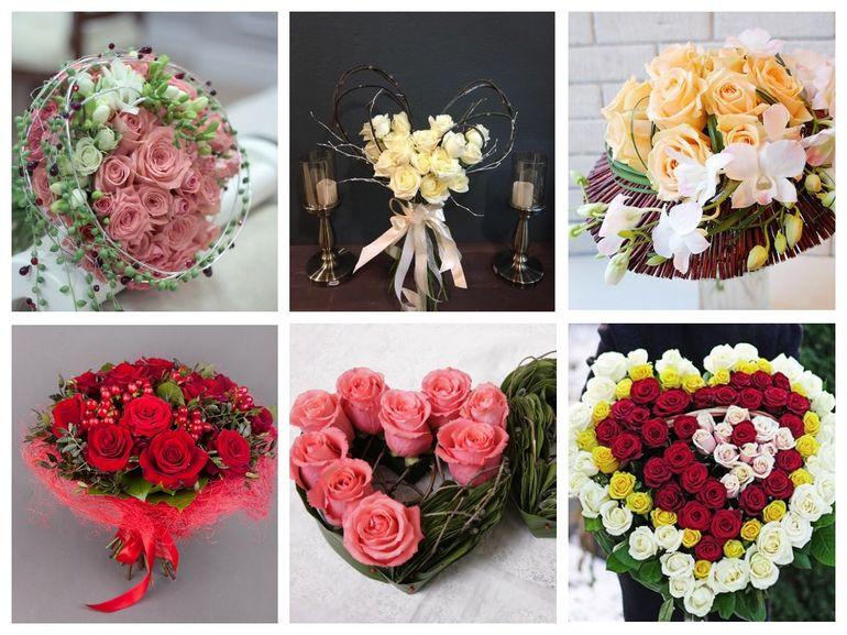 Букет роз на день Валентина - каркасный