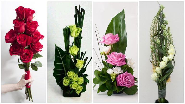 Букет роз на день Валентина - линейный