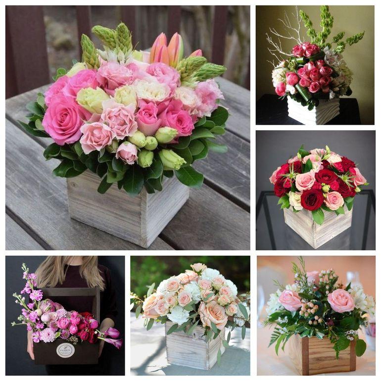Букет роз на день Валентина в коробке