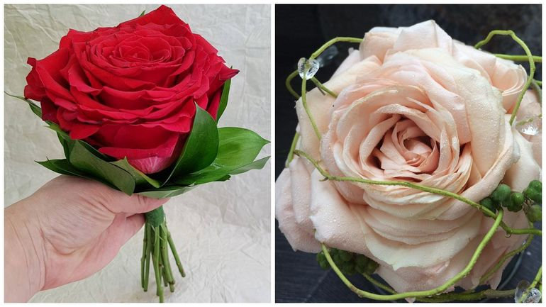 Букет роз на день Валентина - гламелия
