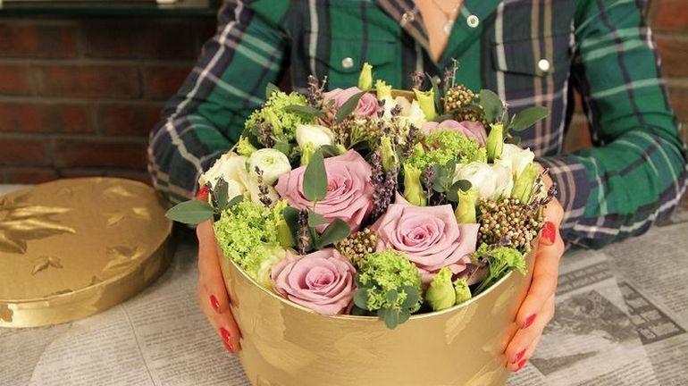 Мастер-класс по сборке букета из роз в коробке на день Валентина