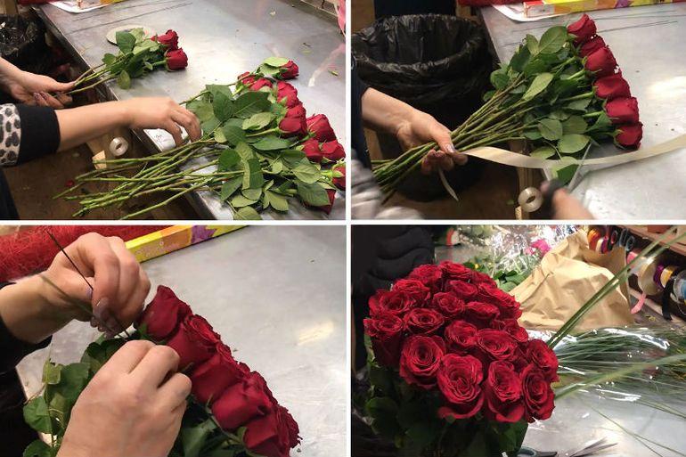 Мастер-класс по сборке сердца из 19 роз на 14 февраля