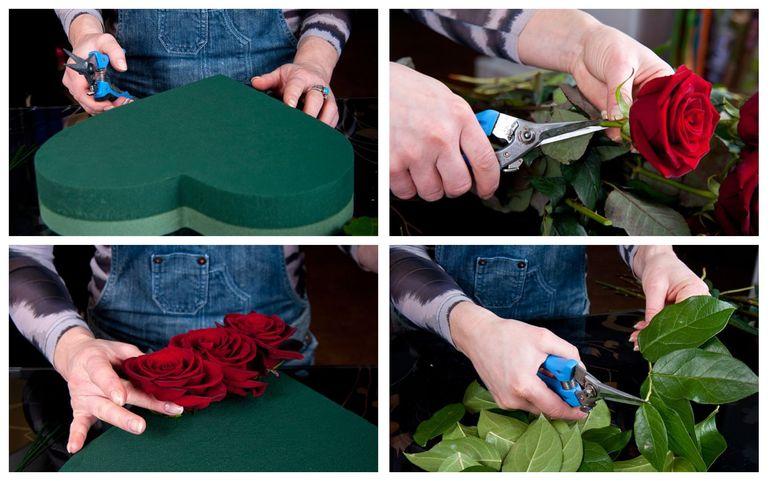 Мастер-класс по сборке букета в форме сердца на День Святого Валентина