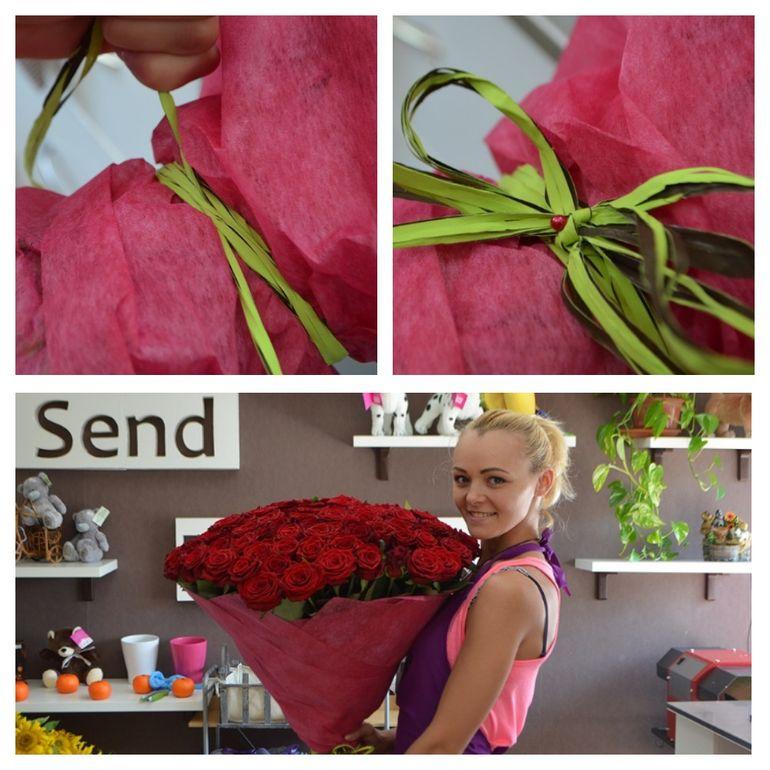 Мастер-класс по сборке букета из 101 розы на День Святого Валентина