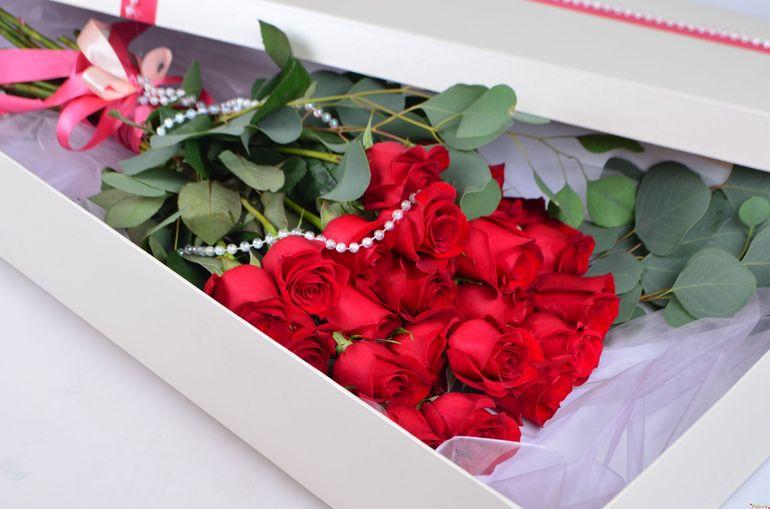 Цветы на День Валентина - упаковка