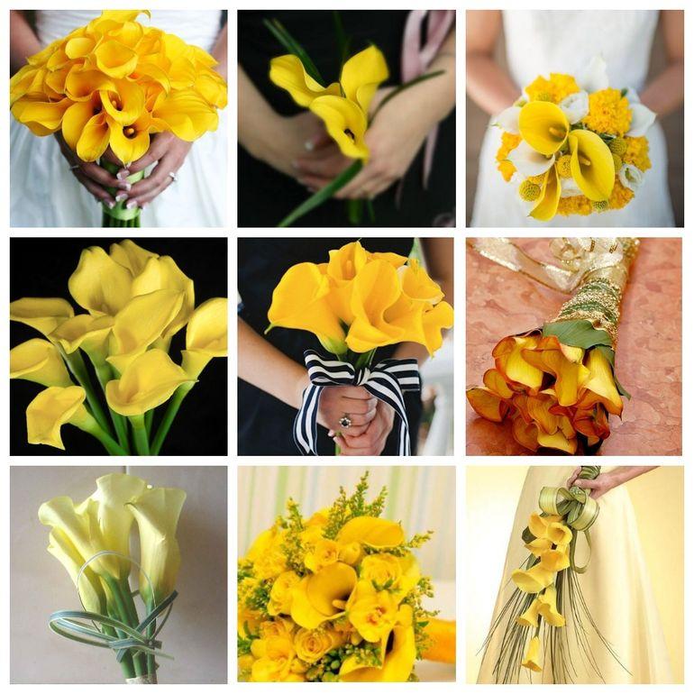 Букет невесты из роз и калл