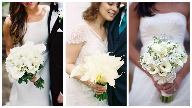 Букет из калл и роз для невесты
